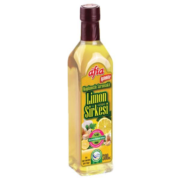 Afia Maydanozlu Sarımsaklı Limon Sirkesi 500 Ml.