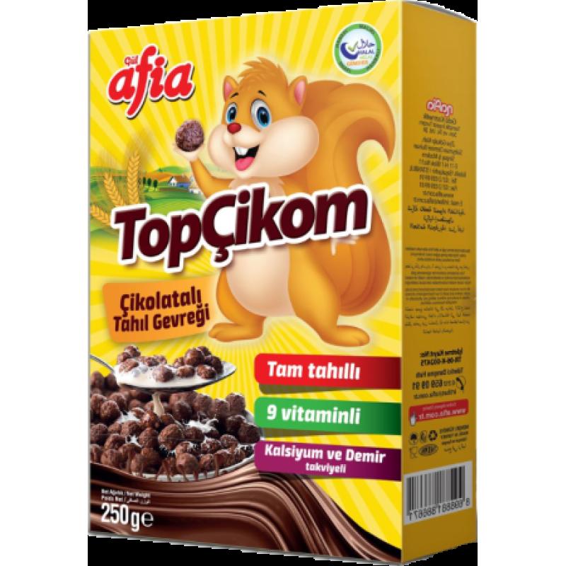 Afia Topçikom Çikolatalı Tahıl Gevreği 250 Gr.
