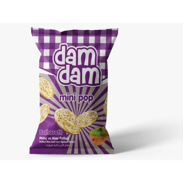 Damdam Minipop Baharatlı Mısır&Pirinç Cipsi 50 Gr.