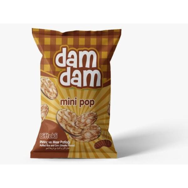 Damdam Minipop Biftekli Mısır&Pirinç Cipsi 50 Gr.