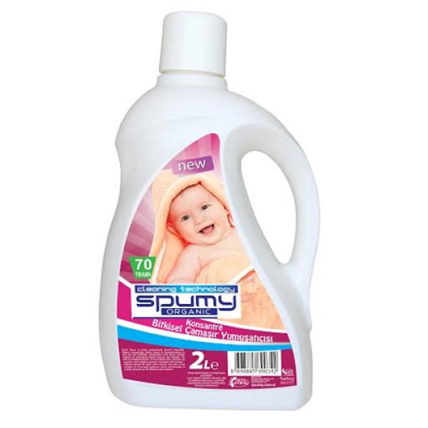 Spumy Organik Çamaşır Yumuşatıcı 2 Litre (Konsantre)