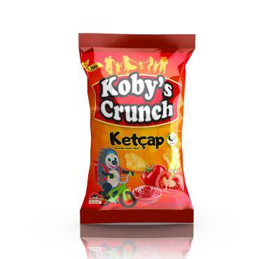 Koby's Crunch Ketçap Aromalı Helal Mısır Cipsi