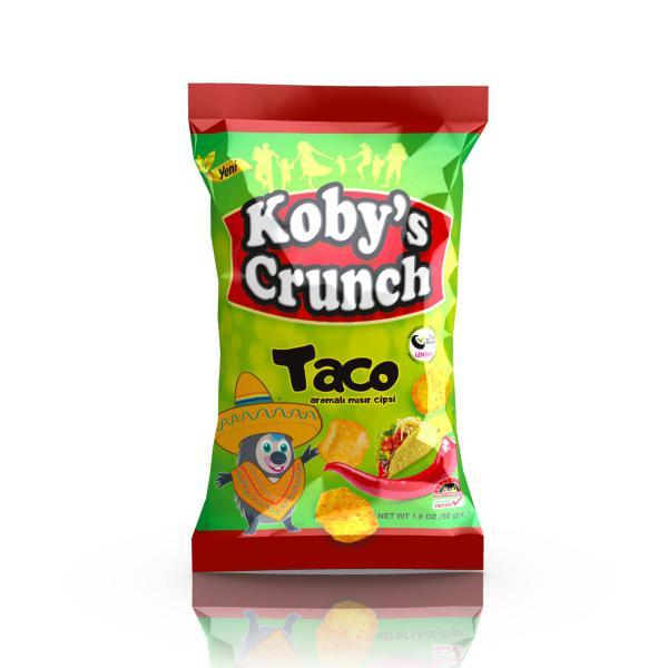 Koby's Crunch Taco Aromalı Helal Cips 50 Gr.